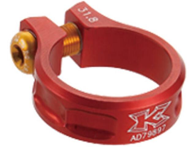 KCNC MTB saddle clamp Ø39mm, red